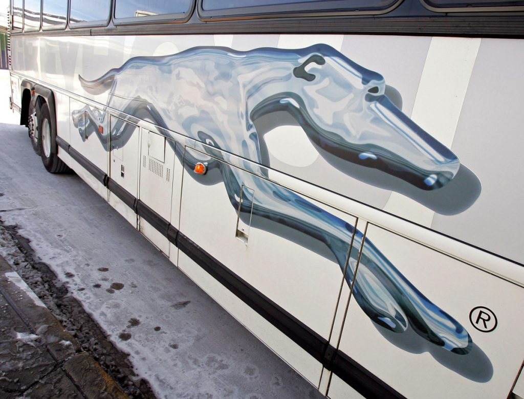 Greyhound says it must comply with federal law and allow Border Patrol agents to board buses when they ask to do so. MUST CREDIT: Bloomberg photo by Tim Boyle