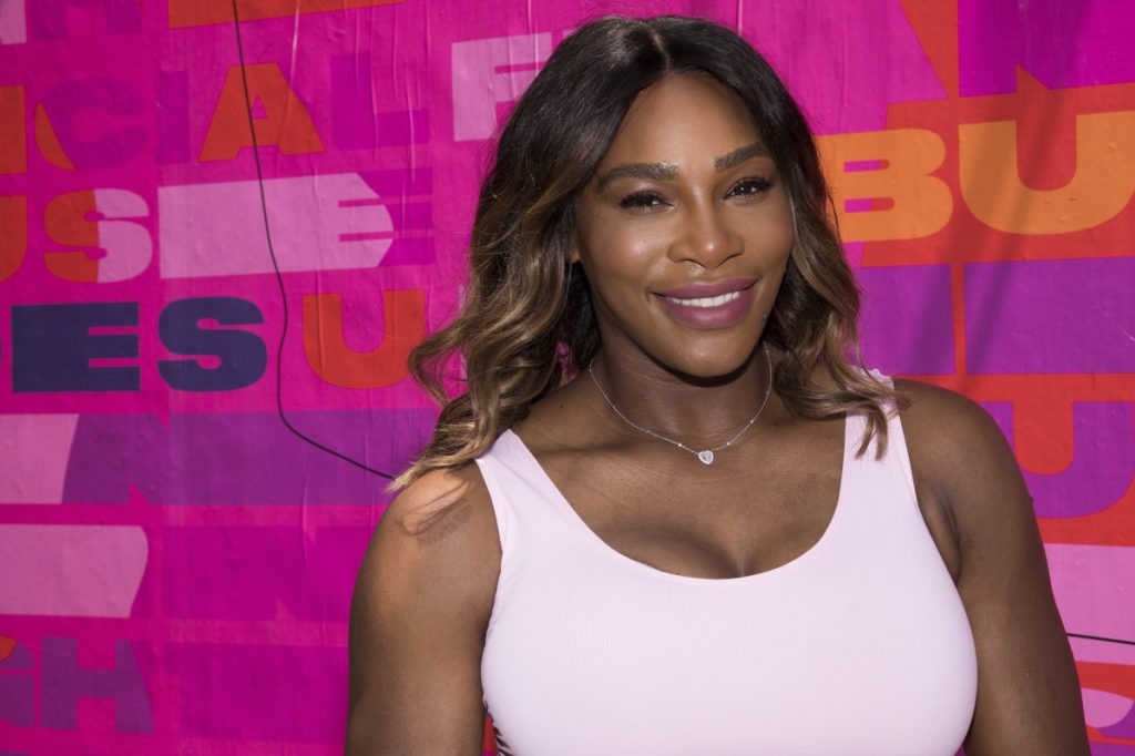 Serena Williams appears Wednesday at an Allstate Foundation Purple Purse event to make domestic violence and financial abuse visible.