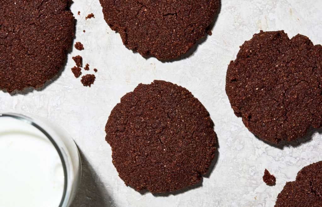 Chocolate Almond Cookies are gluten-free and vegan.