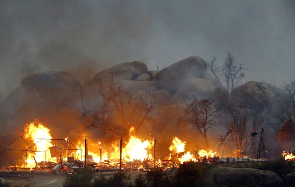 The Yarnell Hill Fire burns in Glenn Ilah near Yarnell, Ariz., on June 30, 2013.