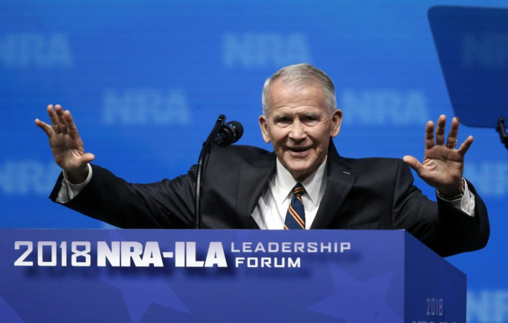 """During his speech at the Republican Party convention in Idaho, former U.S. Marine Lt. Col. Oliver North referred to the NRA as the nation's largest """"civil rights organization."""""""