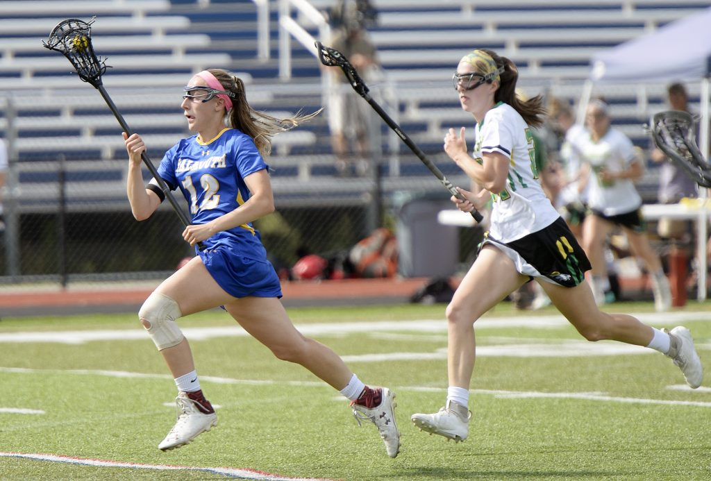After tearing the ACL in her left knee two years ago, Falmouth's Caitlyn Camelio diligently worked to not only recover from that injury but to improve her lacrosse skills.