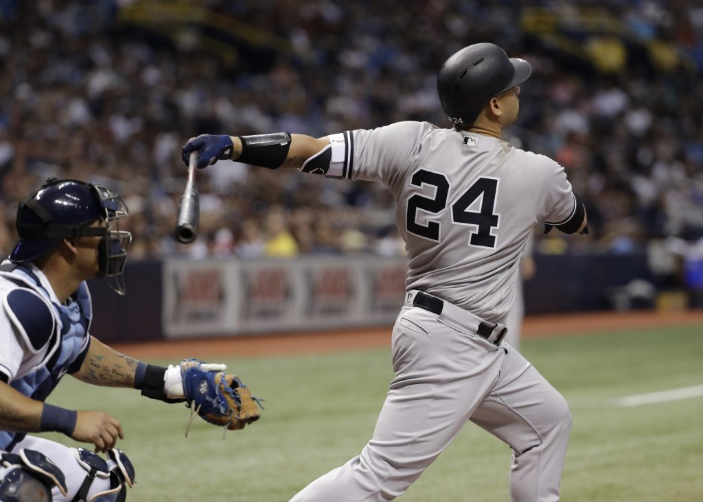 New York Yankees catcher Gary Sanchez is on the disabled list with a strained right groin.