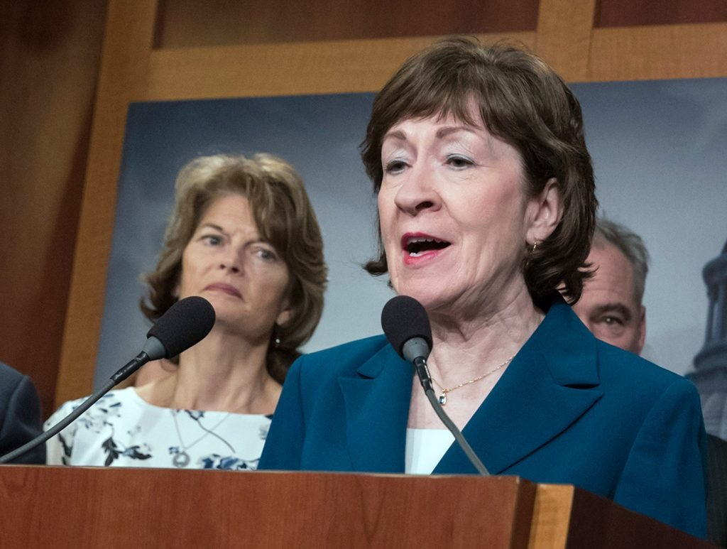 "Republican Sen. Susan Collins of Maine will not apply an ideological litmus test to the next Supreme Court nominee, a Collins spokeswoman said Thursday. ""When Senator Collins evaluates judges, she always looks at their judicial temperament; qualifications; experience; and respect for precedent, the rule of law, and the Constitution,"" Collins spokeswoman Annie Clark said via email."
