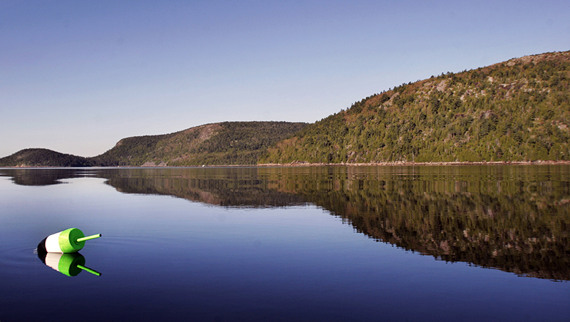 Acadia National Park has many crystal clear days, such as this one in 2006 but also has days where the ozone level exceeds air quality standards.