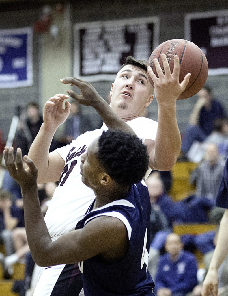 Grant Hartley was a highly valued reserve on the Edward Little team that won the school's first boys' basketball state championship since 1946.