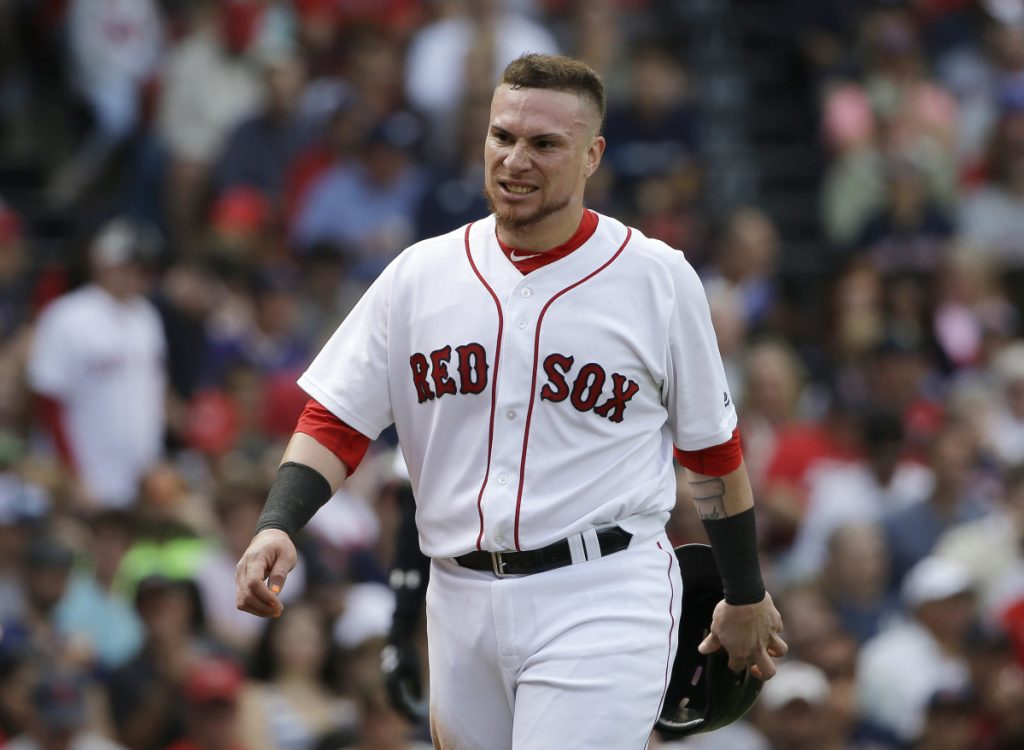 Boston catcher Christian Vazquez was placed on the disabled list after breaking the pinkie finger on his right hand Saturday night in Kansas City.