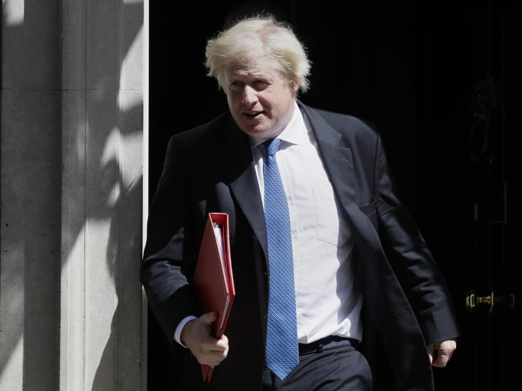 Britain's Foreign Minister Boris Johnson leaves 10 Downing Street in London. Johnson resigned Monday amid Cabinet splits over Brexit.(, File)