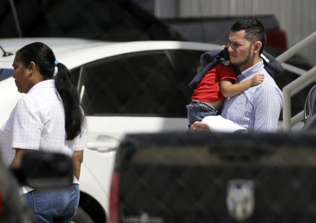 Immigrant families leave a United States Immigration and Customs Enforcement facility after they were reunited Wednesday in San Antonio. Some immigrant toddlers are back with their parents, but others remained in government custody away from relatives as federal officials fell short of meeting a court-ordered deadline to reunite dozens of youngsters forcibly separated from their families at the border.