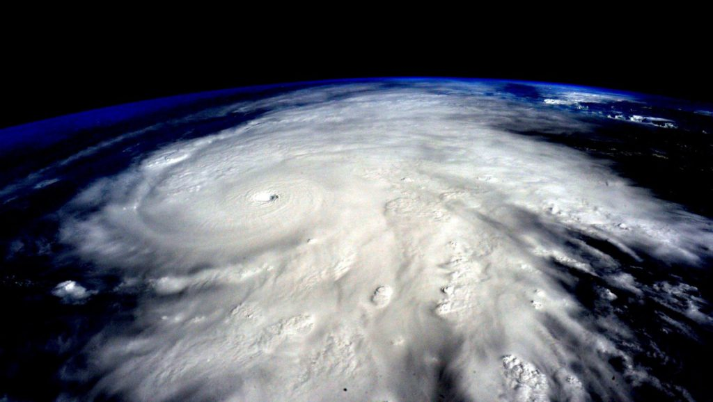 Hurricane Patricia, which achieved a top wind speed of 215 mph, approaches Mexico in October 2015.