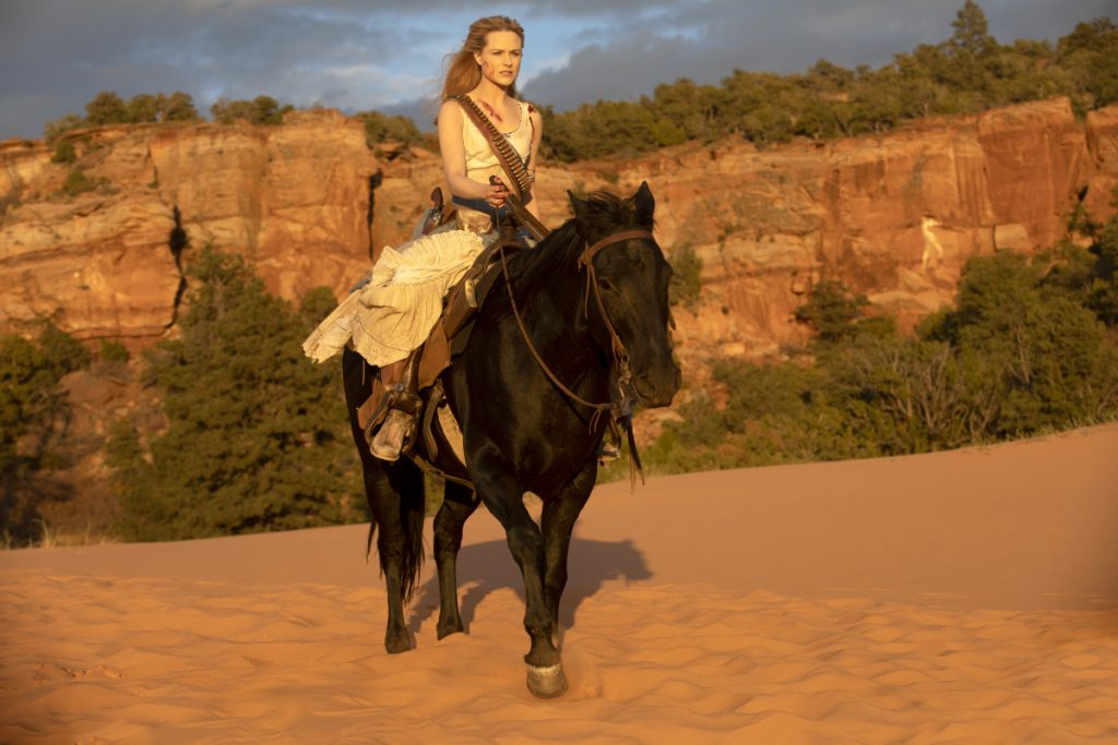 "Evan Rachel Wood in the Season 2 finale of ""Westworld."""