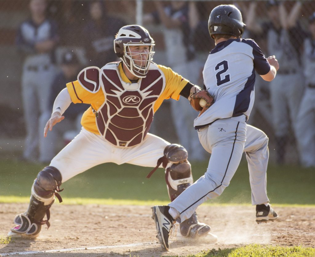 In addition to his prowess as a hitter, Cape Elizabeth's Brendan Tinsman was also regarded as an outstanding defensive catcher during his four years with the Capers.