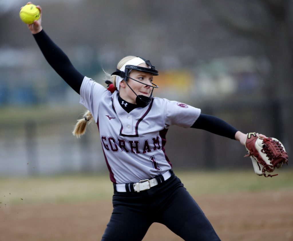 Gorham's Grace McGouldrick struck out 148 batters in 92 innings this season, and posted a 10-5 record with a 1.75 ERA.