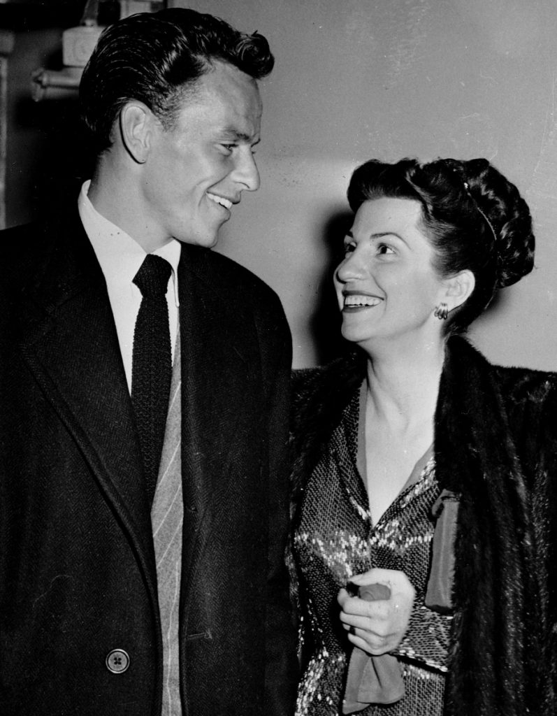 Frank Sinatra and his wife Nancy leave a Hollywood nightclub.