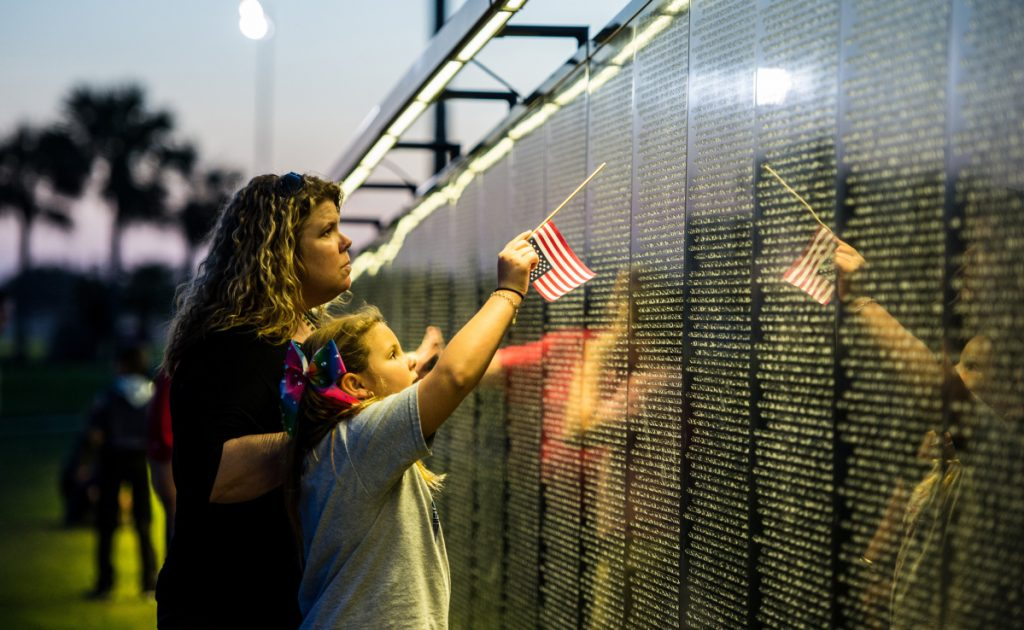 The Wall that Heals, shown here in Portland, Texas, will arrive in Gardiner on Tuesday and open Thursday.