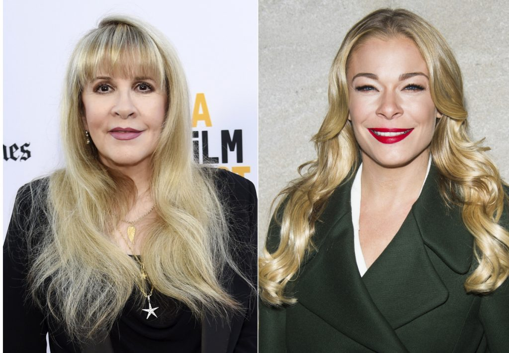 """Stevie Nicks, left, and LeAnn Rimes have collaborated on a new version of Rimes' song """"Borrowed"""" featured on her new """"Re-Imagined"""" album."""