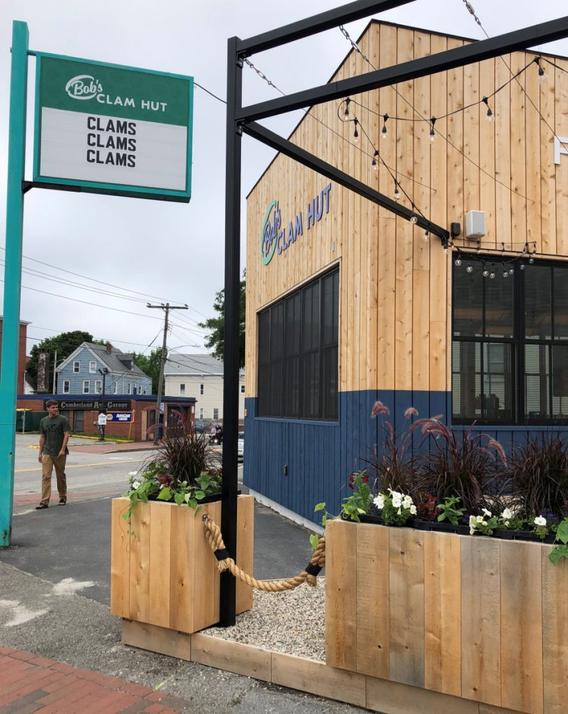 Bob's Clam Hut at the corner of Washington and Cumberland avenues in Portland opened for business Thursday. The restaurant will serve both old favorites and new menu items.