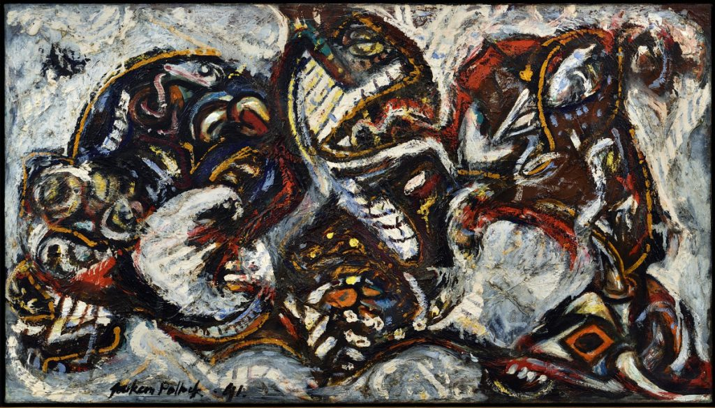 """Composition with Masked Forms,"" by Jackson Pollock, 1941, oil on canvas."