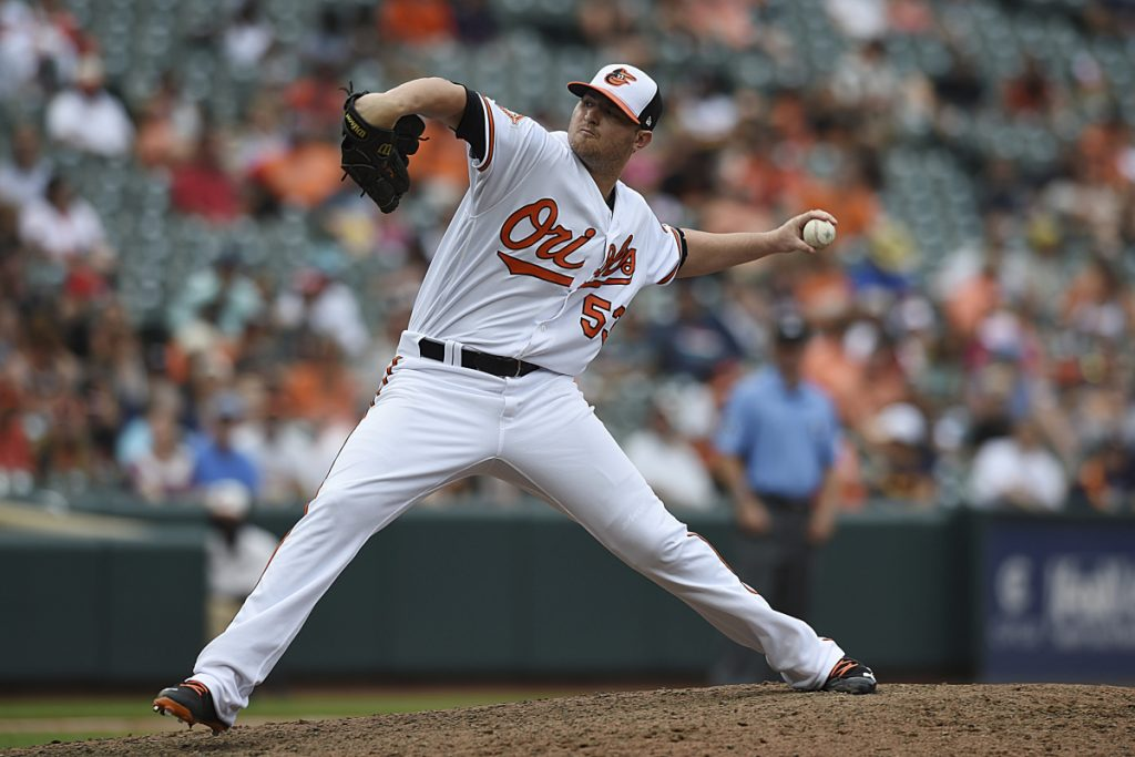 Baltimore closer Zach Britton will be a free agent after this season – and the Orioles are sure to deal him before the non-waiver trade deadline on July 31. (AP Photo/Gail Burton)