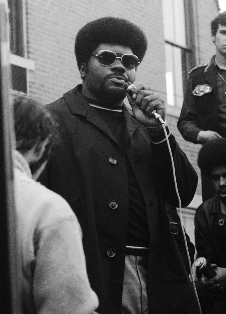 """Elbert """"Big Man"""" Howard, shown in 1970, was one of six people, including Bobby Seale and Huey Newton, who founded the party in 1966."""