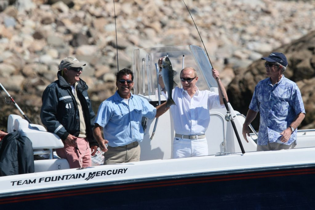 Russian President Vladimir Putin hooked an even bigger one in Helsinki than he did during this 2007 fishing trip in Kennebunkport, writes Robert F. Lyons of Kennebunk.