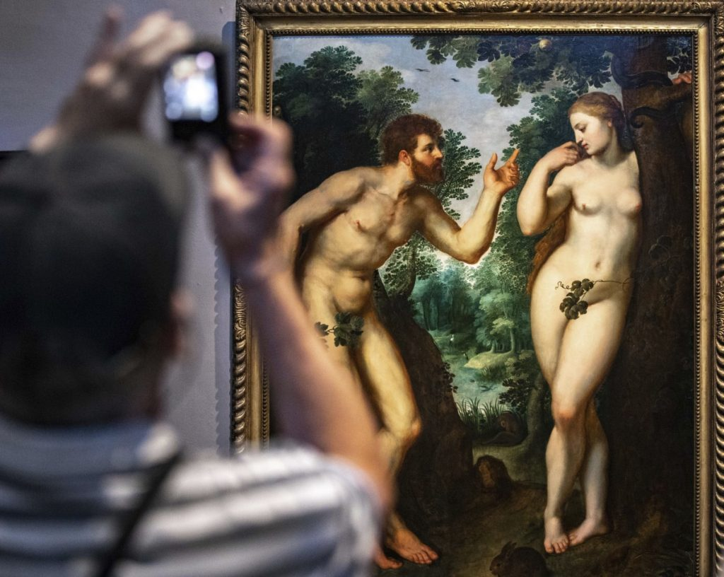 """Adam and Eve,"" by Peter Paul Rubens in Antwerp, Belgium. Facebook won't promote nude art even if it's educational."