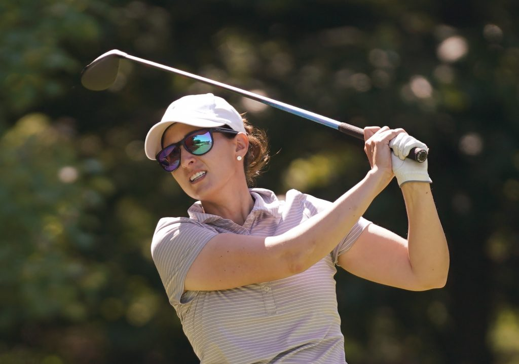 Shannon Johnson, a 35-year-old from Norton, Mass., who has built a  distinguished amateur career, holds a one-shot lead after the first round  by shooting a ...