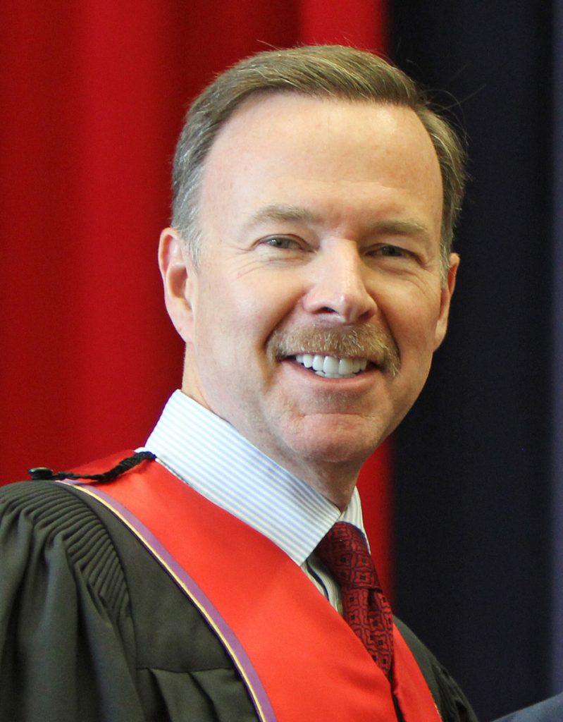 Former Brock University Board of Trustees Chairman Joe Robertson is pictured during the university's 2015 Spring Convocation. The university is in St. Catharines, Ontario.
