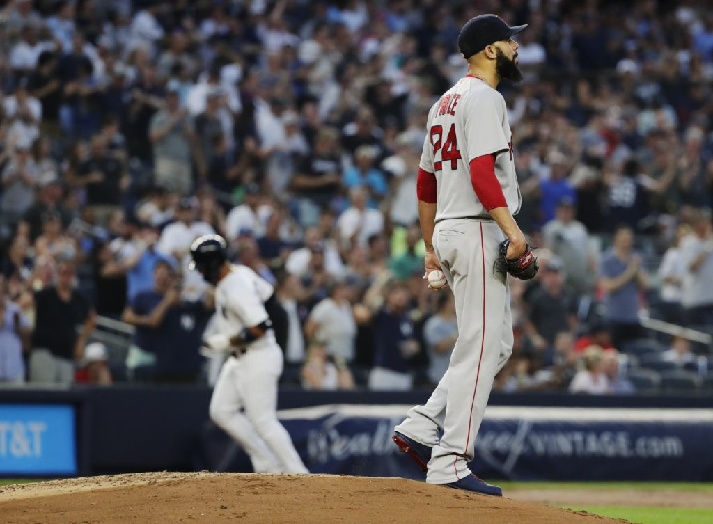 David Price is 0-5 with a 10.4 ERA at Yankee Stadium since joining the Red Sox.