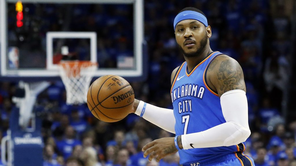 Carmelo Anthony was waived by the Atlanta Hawks on Monday, an expected move after he was traded by Oklahoma City earlier this month.