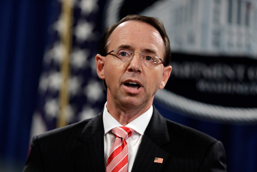 Rod Rosenstein cites growing cyberthreat by foreign adversaries against United States elections
