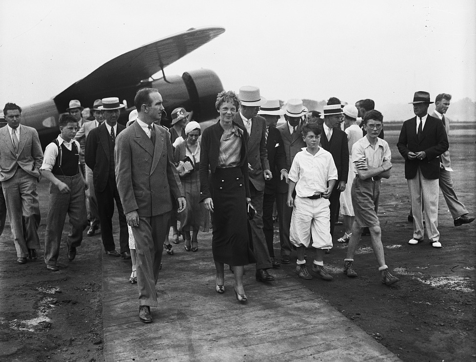 Amelia Earhart shown in 1932