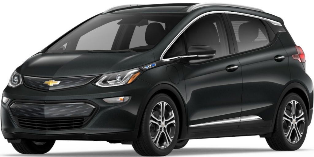 The 2018 Chevrolet Bolt EV Premier.