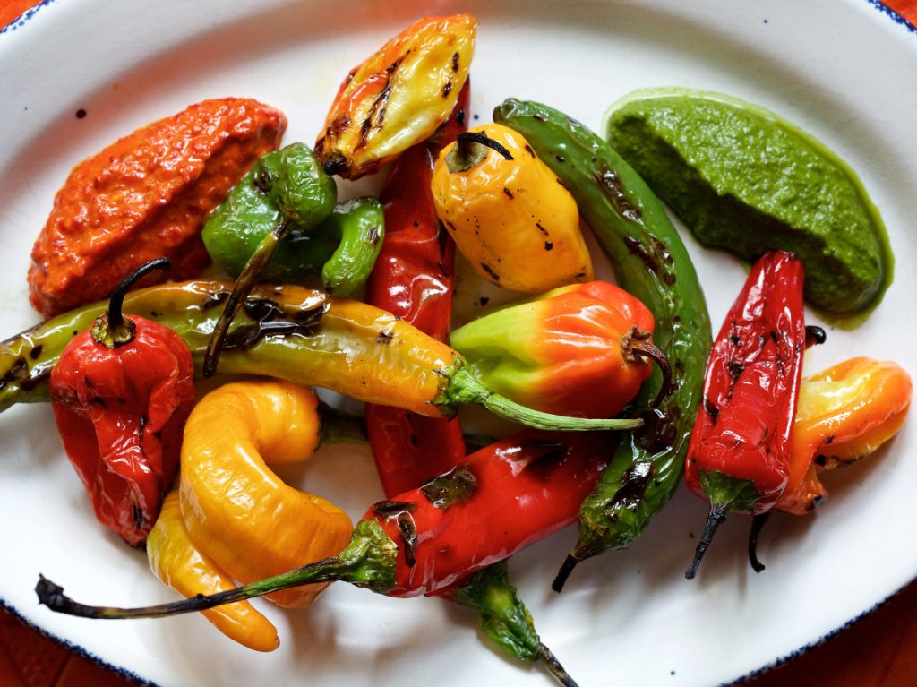 At Sababa in Washington, chef Ryan Moore pairs his zhug with roasted spicy peppers and harissa in a dish called Not for the Faint of Heart. It's meant to be an accompaniment to other foods, but some people eat it plain as a dare.