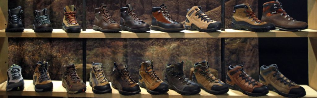Above-the-ankle leather boots were favored by hikers for many years, but their popularity is being replaced by 'trail runners,' which are lighter and less expensive.
