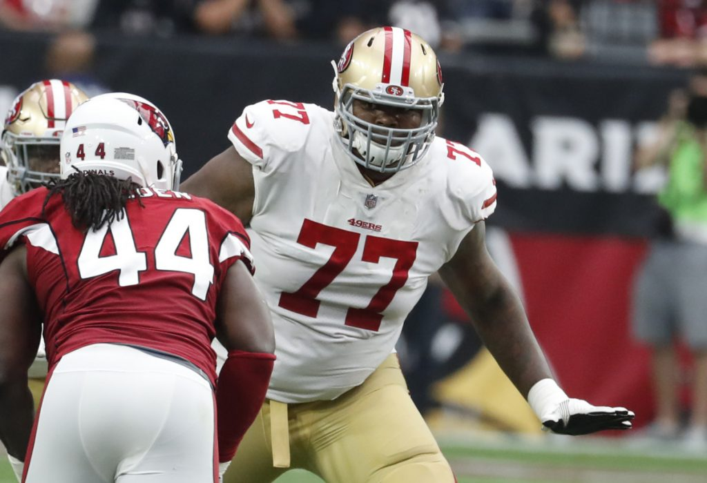 Trent Brown, an offensive tackle who was traded to the Patriots from the 49ers during the offseason, arguably has been New England's best player in training camp.