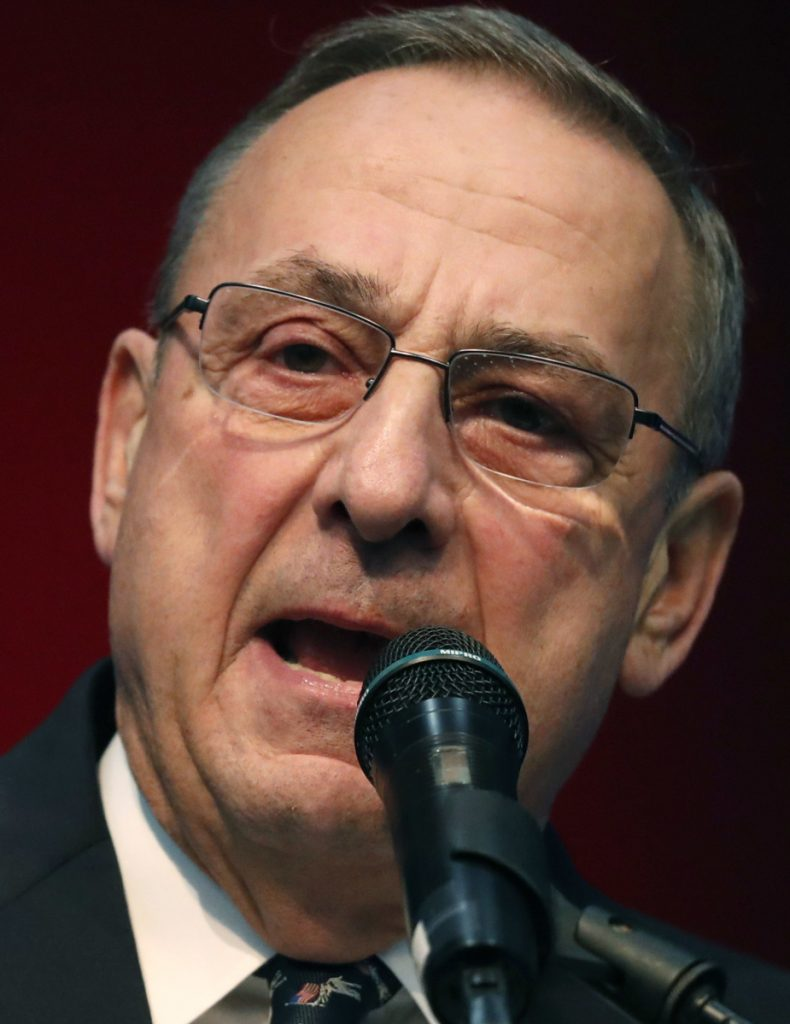 """Gov. Paul LePage is threatening to use the """"full extent of the law"""" against Bay State officials."""