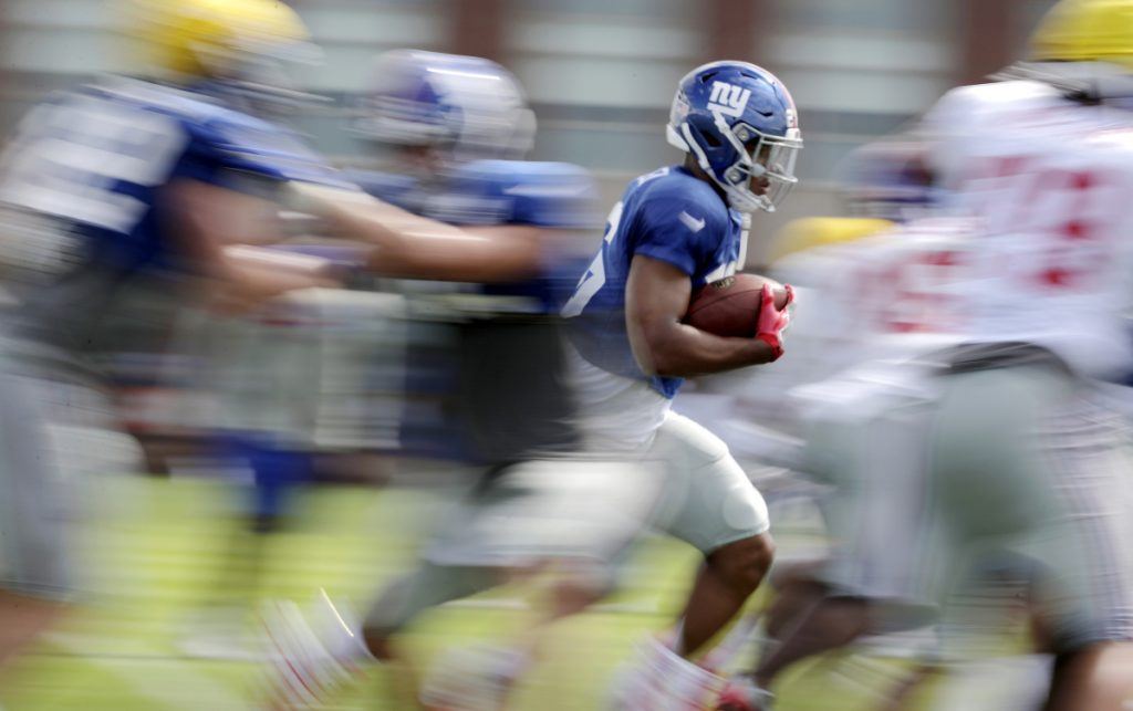 eae8cbad3 Giants  rookie Saquon Barkley is eager to perform - Portland Press ...