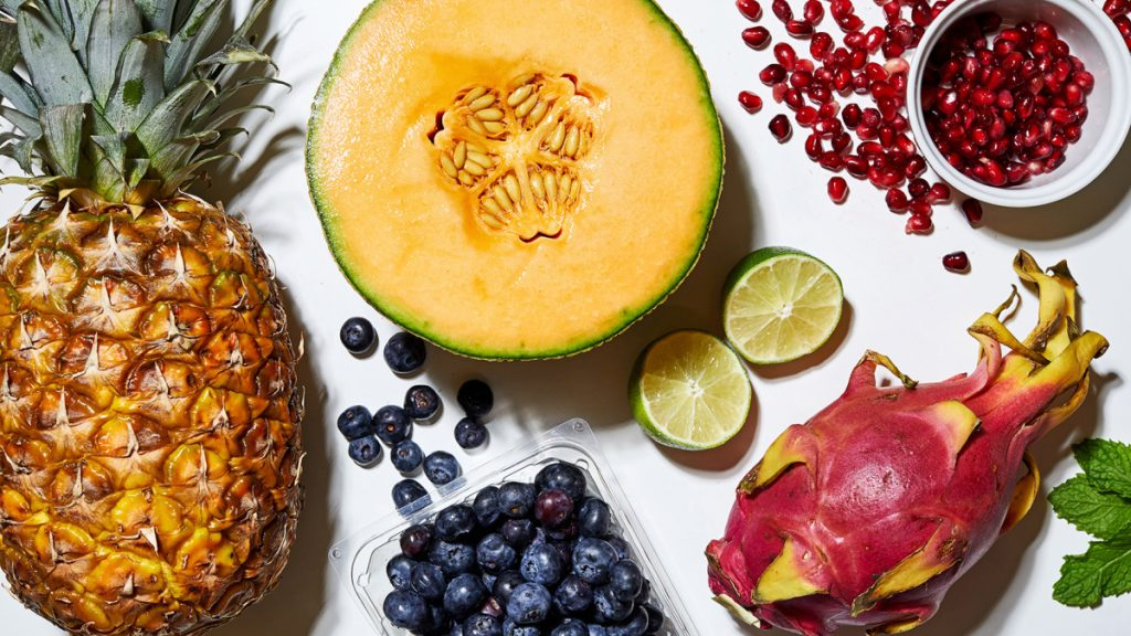 It's fun to add one splurge fruit to a salad, something exotic or unexpected. Dragon fruit, with its spongy flesh speckled with tiny black seeds and a kiwilike flavor, is one example.