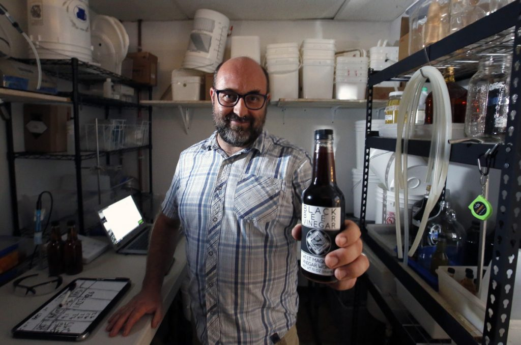 Brad Messier makes his Black Beer Vinegar from Allagash Black, a Belgian stout.
