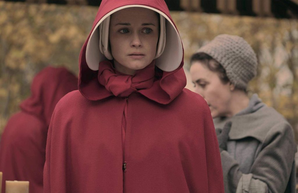 "Alexis Bledel as Emily in ""The Handmaid's Tale."""
