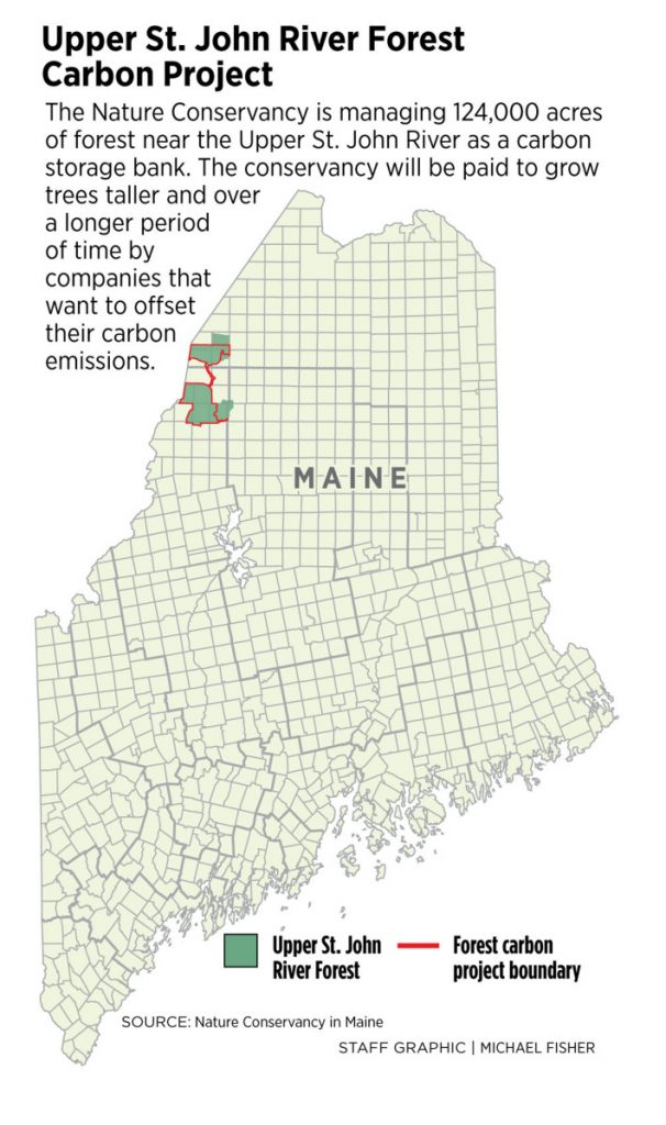 St John River Maine Map.Nature Conservancy Sees An Opportunity To Fight Climate Change