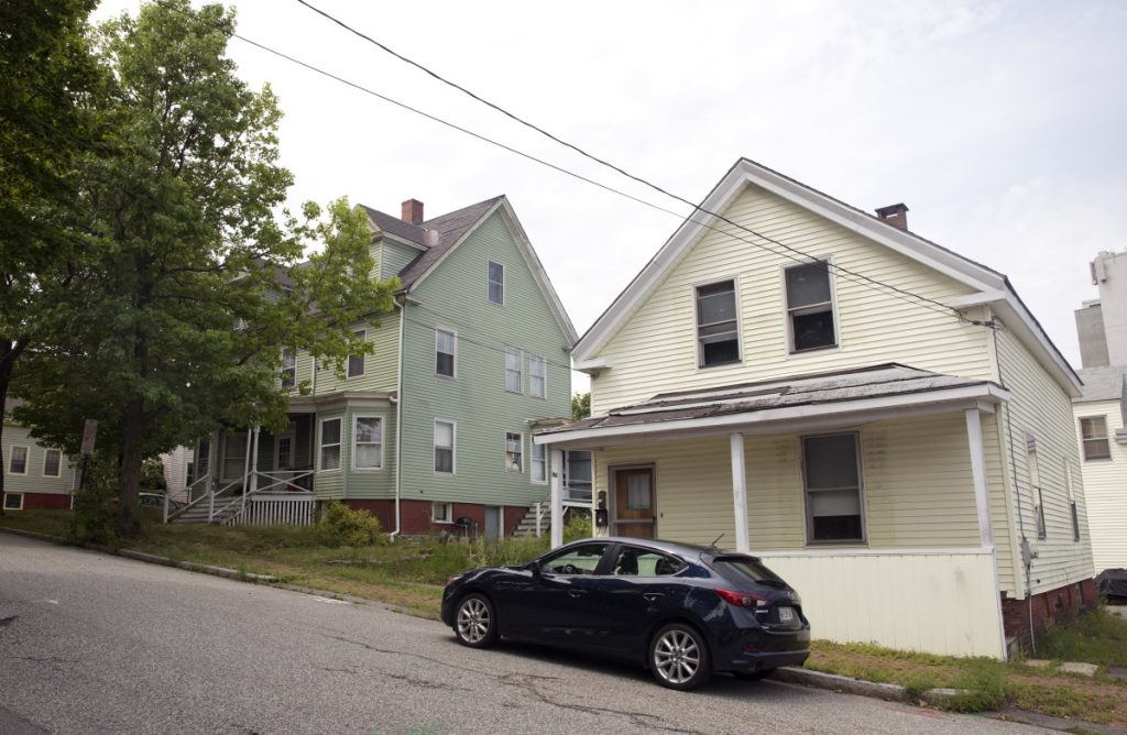 Developer Tim Wells plans to demolish two vacant single-family homes at 37 and 33 Montreal St. on Munjoy Hill in Portland.