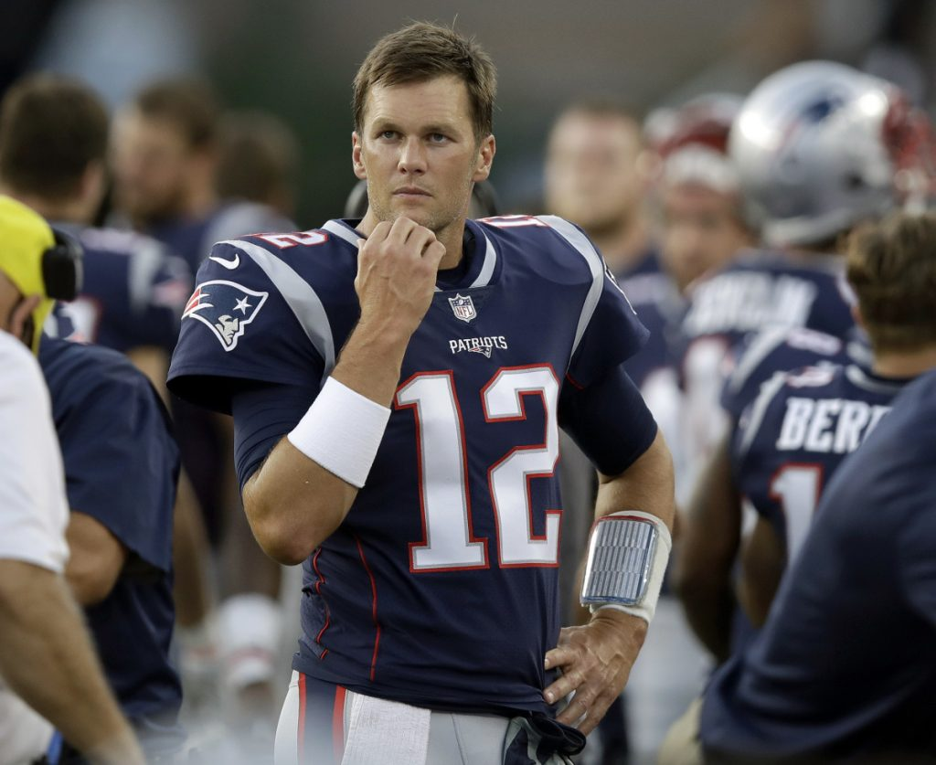 Quarterback Tom Brady did not play in the Patriots' preseason opener on Thursday, then had a bad session at practice on Monday morning.