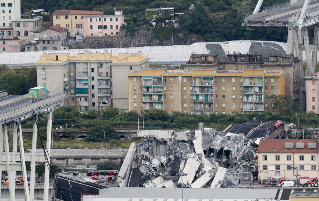Italy motorway collapse: Driver walks away unscathed after falling 50m