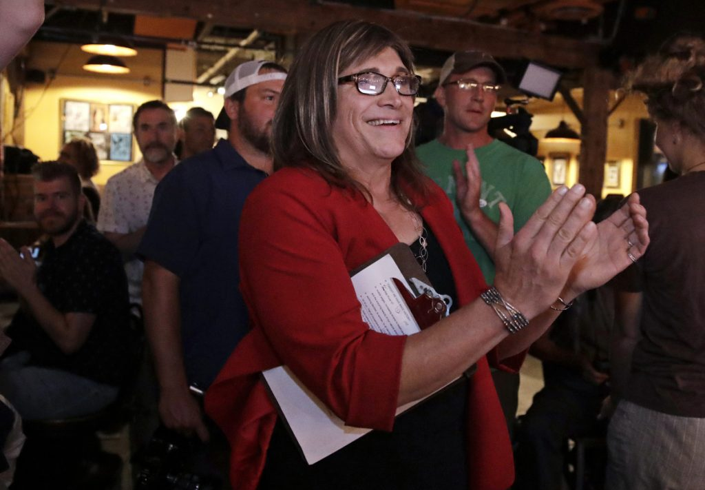 Christine Hallquist, above, will have the chance to be Vermont's first transgender governor. And Connecticut is closer to sending its first black woman to Congress.