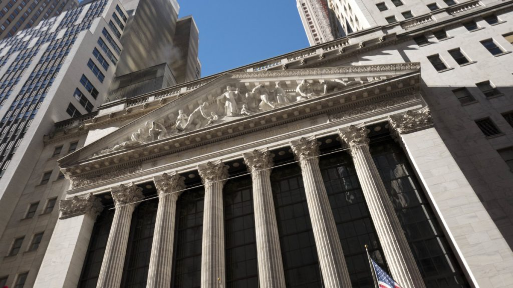 High-dividend entities like utilities and phone companies did better than others on the New York Stock Exchange, above.