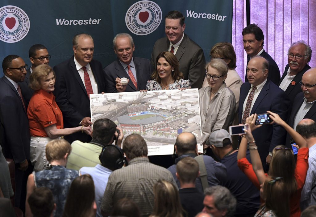 The city of Worcester, Massachusetts, plans to build a $90 million stadium for the Triple-A affiliate of the Boston Red Sox.