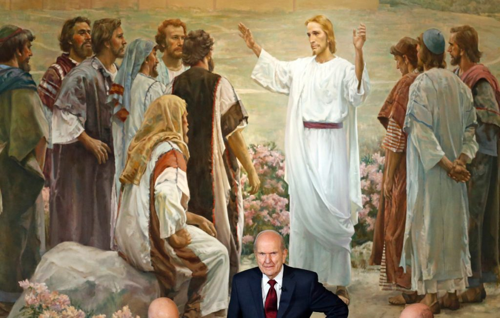 """Russell M. Nelson attends a news conference in Salt Lake City in January. The president of the church is asking people to refrain from using """"Mormon"""" or """"LDS"""" as a substitute for the full name: The Church of Jesus Christ of Latter-day Saints."""