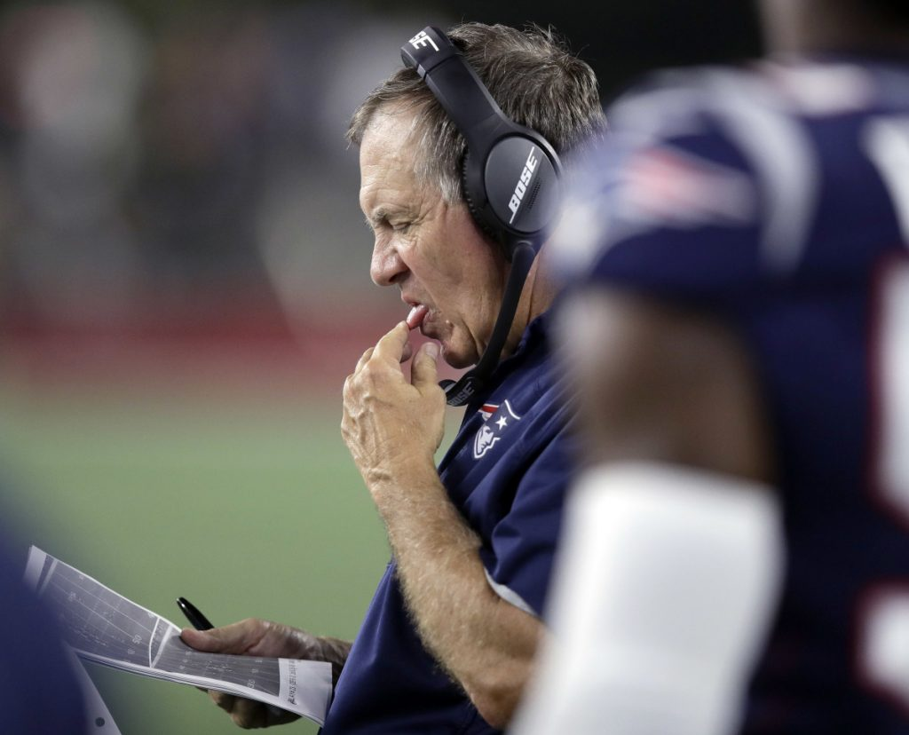 With Isaiah Wynn out for the year, New England Coach Bill Belichick is checking every list he has, searching for another offensive lineman capable of protecting Tom Brady.